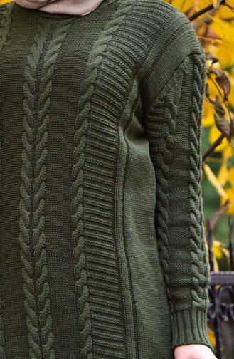 Knitwear Knit Pattern Tunic 8084-02 Khaki 8084-02