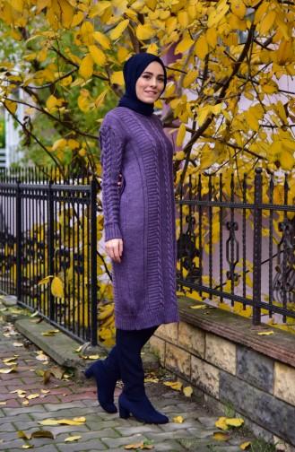 Knitwear Knit Pattern Tunic 8084-05 Purple 8084-05