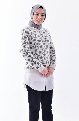 iLMEK Patterned Knitwear Sweater 3292-06 Tile 3292-06