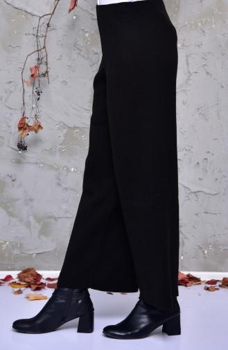 Tricot Wide Leg Pants 9025-01 Black 9025-01