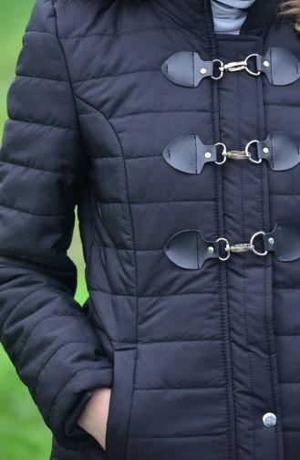 Hooded Padded Coat 0121-01 Black 0121-01
