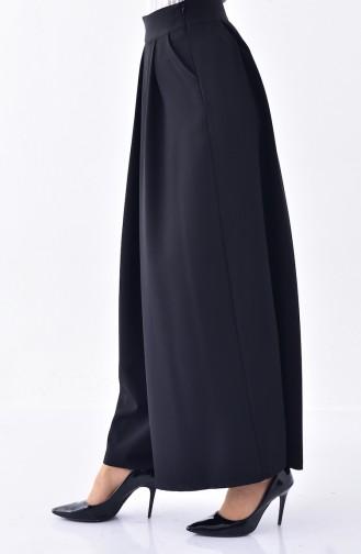 Jupe Pantalon a Plis 3150-01 Noir 3150-01