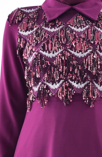 Sequined Dress 60720-02 Damson 60720-02