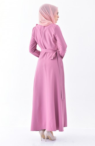 Frilled Dress 0197A-01 Dark Dusty Rose 0197A-01