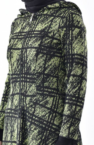 Zippered Asymmetric Cape 5052-03 Green 5052-03