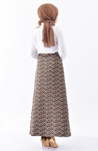 Jacquard Skirt 7225-01 Brown 7225-01