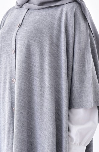 Poncho a Boutons 4029-06 Gris 4029-06