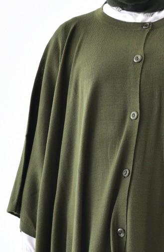 iLMEK Buttoned Poncho 4029-02 Khaki 4029-02