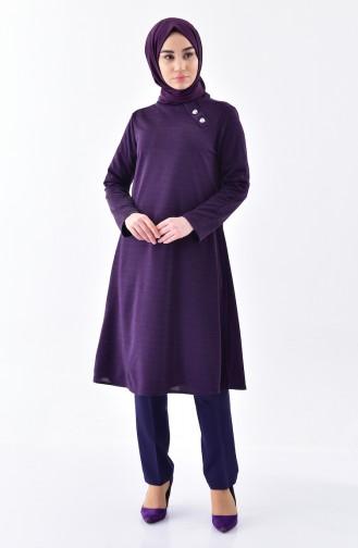 Buttoned Tunic 1266-03 Purple 1266-03