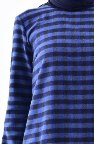 Checkered Tunic 1059-01 Indigo 1059-01