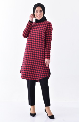 Checkered Tunic 1059-02 Red 1059-02