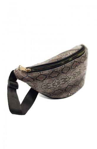 Women Waist Bag U0001-02 Brown Snake 0001-02