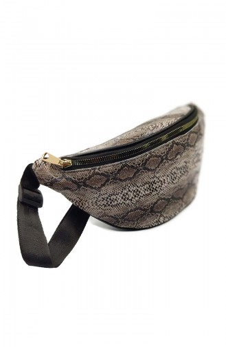 Women´s Waist Bag U0001-02 Brown Snakeskin 0001-02