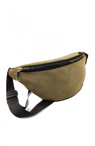 Women Waist Bag U0001-04 Mink Suede 0001-04