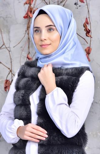 Düz Viskon Eşarp 901414-05 Buz Mavisi
