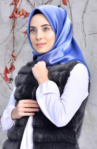Düz Viskon Eşarp 901414-11 Açık Mavi
