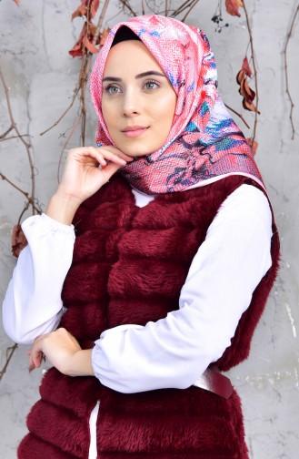 Karaca Mood Dijital Eşarp 90557-02 Somon Oranj