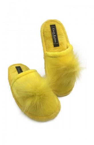 Puffed Women Slippers TEZ001-01 Yellow 001-01