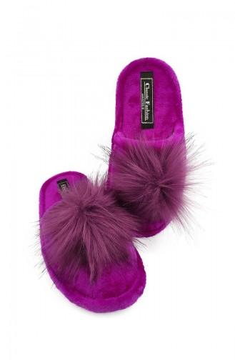 Puffed Women Slippers TEZ001-02 Purple 001-02