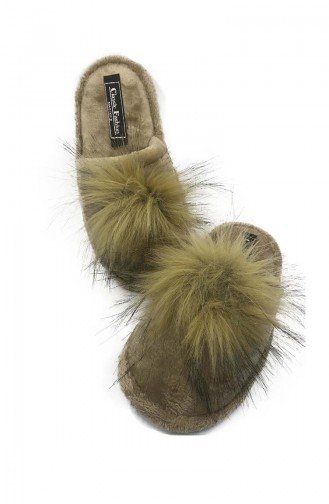 Puffed Women Slippers  TEZ001-03 Mink 001-03