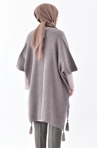 Tassels Knitwear Poncho 0870-05 Mink 0870-05