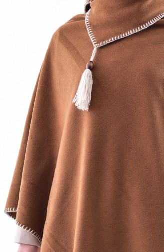 Shawl Collar Fleece Poncho 1001-05 Taba 1001-05