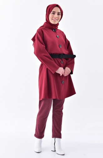 Striped Pant 1329-09 Claret Red 1329-09