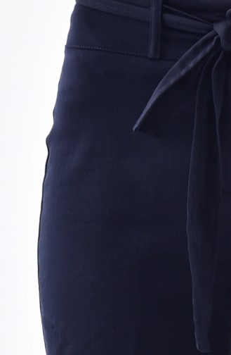 Double Cuff Trousers 1017-02 Navy Blue 1017-02