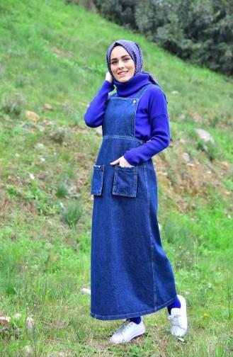 Pocket Jean Gilet 4423-02 Navy Blue 4423-02