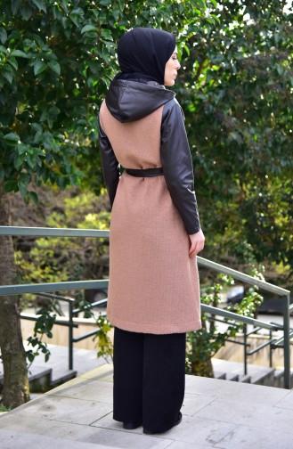 Leather Garnish Fleece Cap 5097-03 Maroon 5097-03