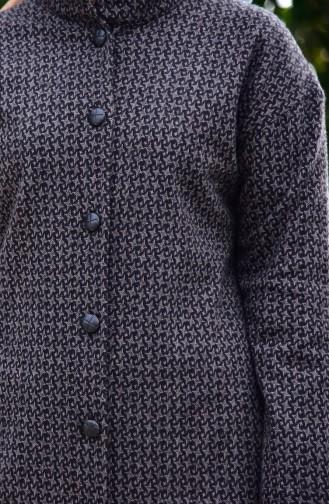 Dilber Buttoned Cape 7143-01 Black Mink 7143-01