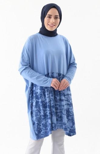 Yarasa Kol Salaş Tunik 1176-02 Mavi