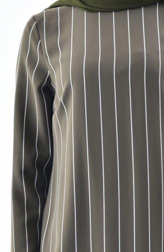 Striped Tunic 1061-01 Khaki 1061-01