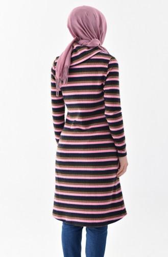 Knitwear Striped Sweater 0115-01 Navy Blue Pink 0115-01
