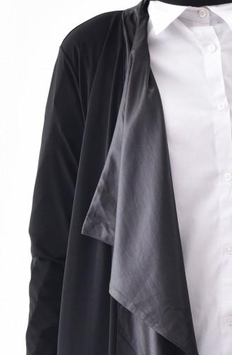 Garnili Uzun Hırka 1162-01 Siyah
