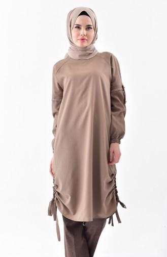 Elastic Sleeve Tunic 5003-02 Mink 5003-02
