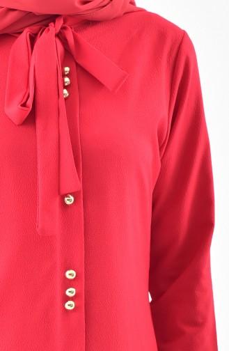 Buglem Tie Collar Tunic 1084-21 Red 1084-21