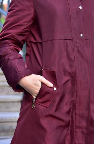 Furry Coat 5108-02 Claret Red 5108-02