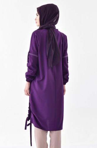 Elastic Sleeve Tunic 5003-10 Purple 5003-10
