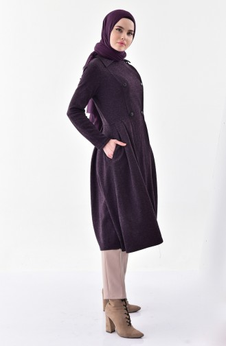 TUBANUR Pocket Pleated Cape 3041-02 Plum 3041-02