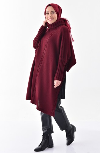 Claret red Poncho 4109-02