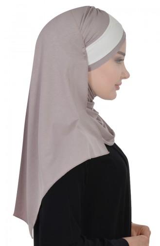 Zwei Farbige Bonnet aus Gekämmte Baumwoll-Nerz Creme CPS0040-2-8 0040-2-8