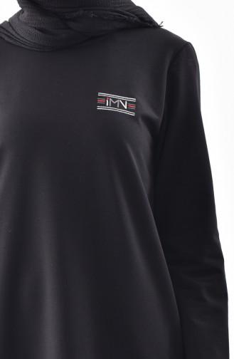 Cepli Tunik Pantolon İkili Takım 99175-01 Siyah
