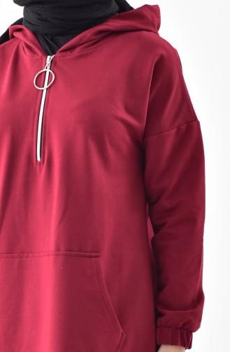 iLMEK Zippered Sweatshirt 5208-06 Claret Red 5208-06