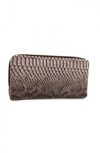 Lady Wallet Ir18-02 Brown Serpent Leather 18-02