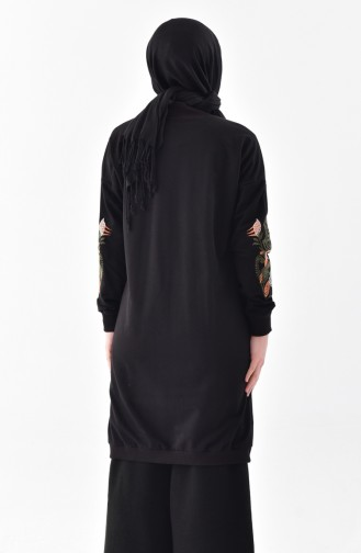 Embroidered Sweatshirt 2039-02 Black 2039-02