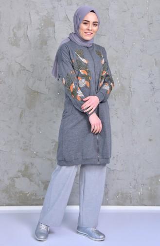 Embroidered Sweatshirts 2039-05 Smoked 2039-05
