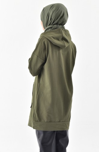 Zippered Sweatshirt 5208-03 Khaki 5208-03
