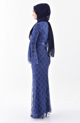 Indigo Hijab Dress 60731-06
