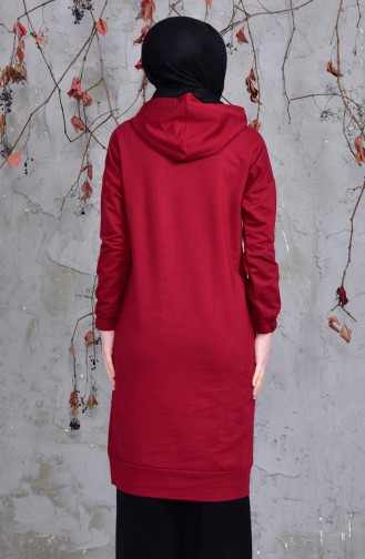 Pockets Sports Tunic 5207-02 Claret Red 5207-02